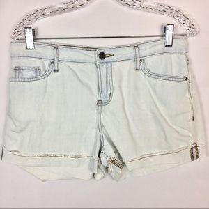 Calvin Klein Light Blue Cotton Shorts Lightweight.